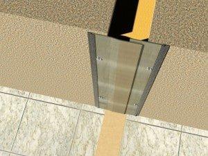 profil dilatatie din aluminiu perete si tavan